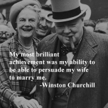 Winston Churchill and Wife