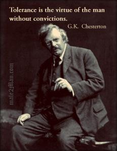 GK Chesterton Tolerance