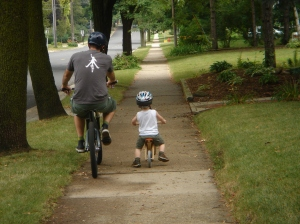 father.son.bike ride